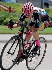 Midwestern State's Amy Floyd competes in the Women