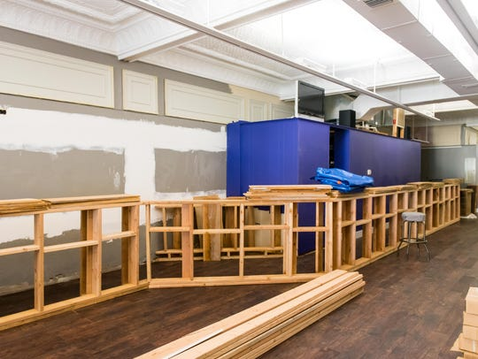 Progress on the unfinished bar at Brinx Jones Brewery
