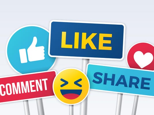 Social Media Like Comment Share Signs