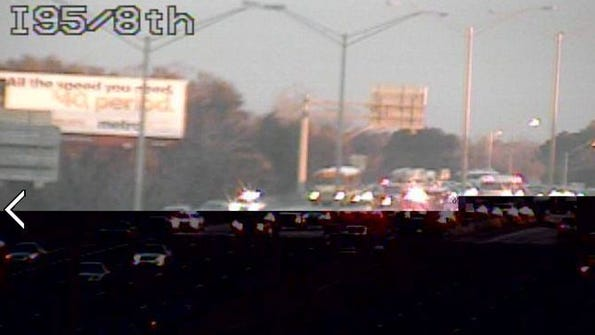 Two lanes closed on I-95 Southbound between 20th and 8th Streets due to a reported traffic crash with injuries
