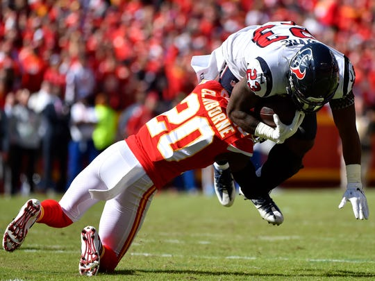 Former Fair Park and LSU star Morris Claiborne (20) and the Kansas City Chiefs will face San Francisco in Super Bowl LIV on Sunday in Miami.