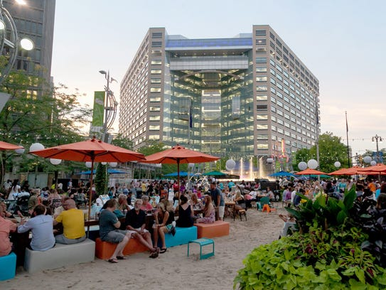 Thousands of funk fans filled Campus Martius Park in
