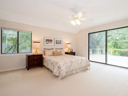 After staging: The master bedroom in Hal Workin's condominium