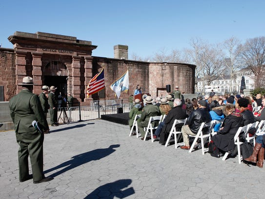 An event at Castle Clinton National Monument on March
