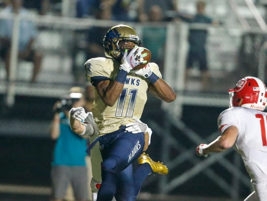 Decatur Central's Tyrone Tracy had 80 yards rushing