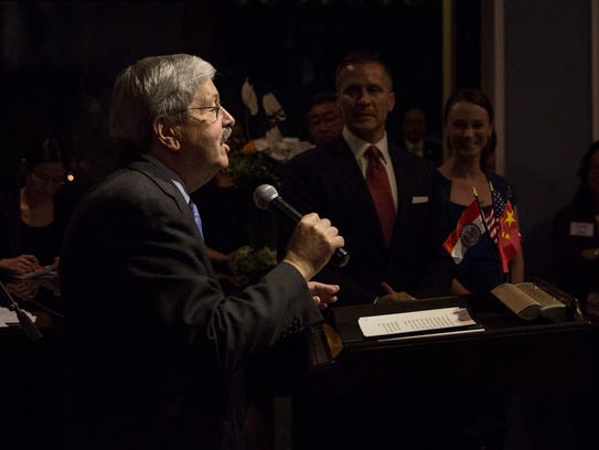 U.S. Ambassador to China, Terry Branstad gives remarks