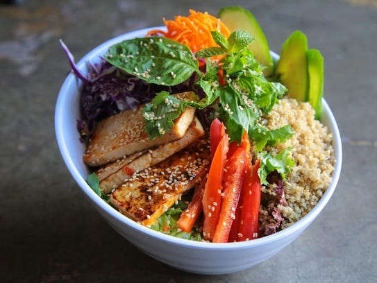 The Tasty Thai Tofu bowl at Chef Tanya's Kitchen in