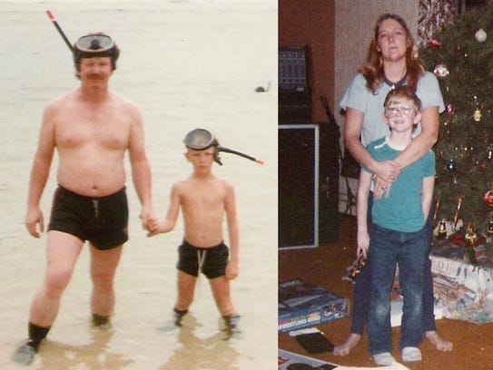 This combination of family photos shows Kevin Boyd