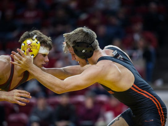Former Iowa State wrestler Kanen Storr announced his transfer to Michigan this weekend.