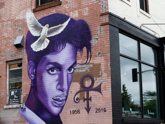 In this Aug 28, 2016, file photo, a mural honoring