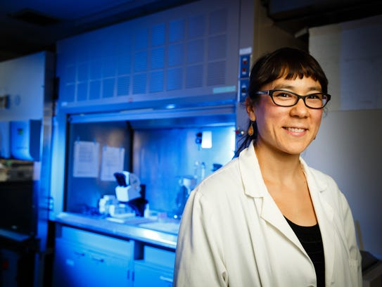 Mary Kosuth, a Minneapolis researcher of microplastics,