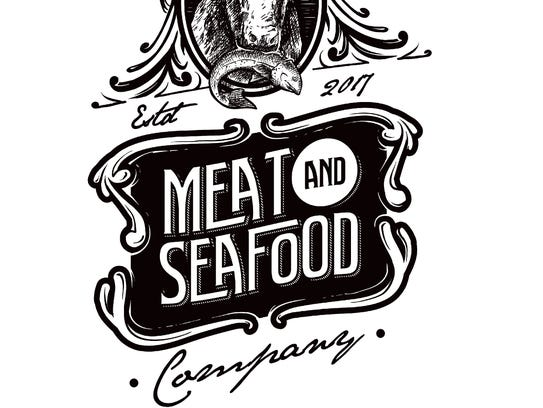 A logo for Meat and Seafood Company, the latest business