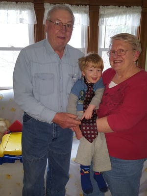 Susan Manzke and her husband, Bob, revel in spending time with their grandson, Harrison.