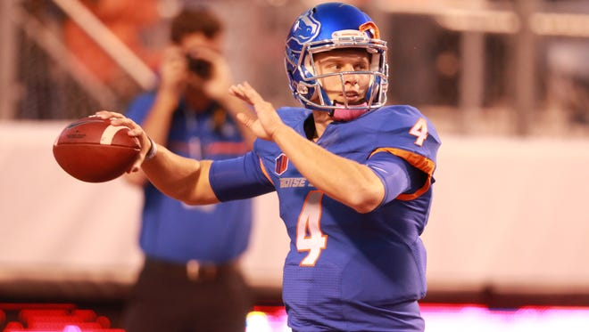 Boise State quarterback Brett Rypien threw for 368 yards and five touchdowns in a half last weekend and has seven 300-yard passing games in 15 career starts. Rypien and his Boise State teammates host CSU on Saturday night.