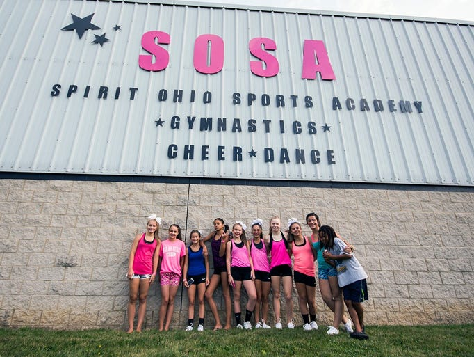"Spirit Ohio Sports Academy in Mansfield held a ""Cheerlebrity Clinic"" Aug. 2."