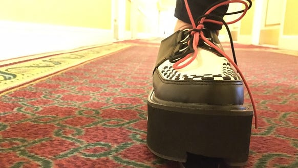 Columnist Jennifer Jolly sports the Denso vacuum shoe.