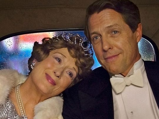 "Meryl Streep and Hugh Grant star in the biopic ""Florence Foster Jenkins."""
