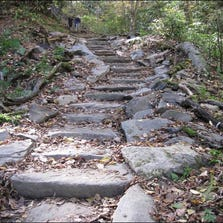 Crews have rebuilt portions of the Chimney Tops Trail in the Smokies