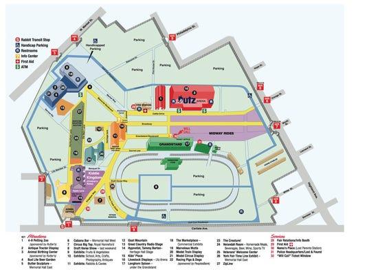 2015 York Fair map