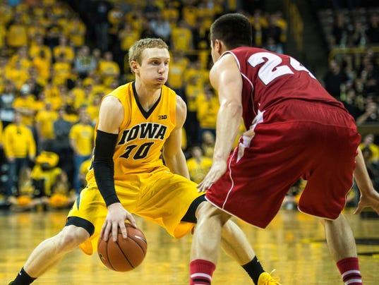 NCAA Basketball: Wisconsin at Iowa