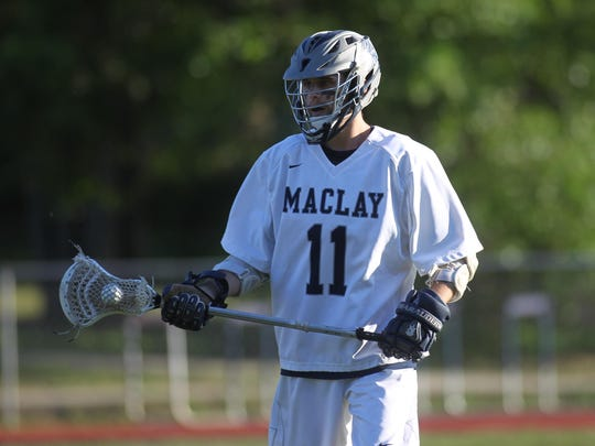 Maclay senior Chad Minter is the All-Big Bend Player of the Year after leading the Marauders from the midfield in face-offs and offensive focus. Minter had 28 goals and 91 ground balls.