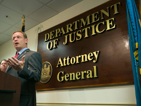 Attorney General Matt Denn releases the results of a comprehensive substance abuse treatment needs assessment commissioned by the Department of Justice in 2017.