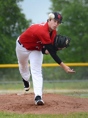 Patrick Tomfohrde pitches a complete-game, five-inning shutout against Greendale to help Pewaukee clinch at least a share of the Woodland West title on Thursday.