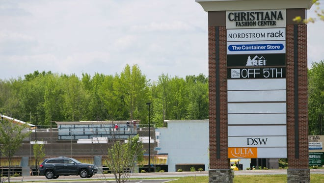 The Christiana Fashion Center next to the Christiana Mall is shown. Marshalls and HomeGoods stores are planned.