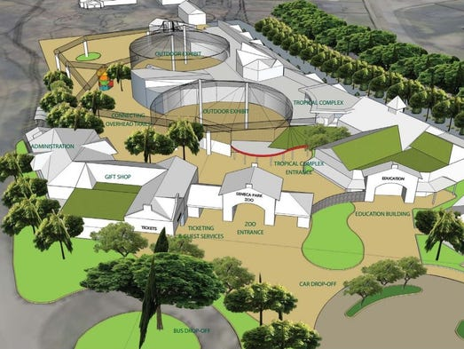 Rendering of changes in store for the Seneca Park Zoo.