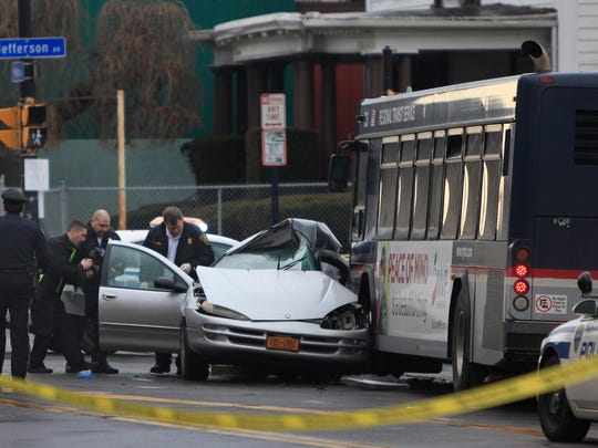 Rochester police investigate a fatal accident at the corner of West Main St and Jefferson Ave between an RTS Bus and a car.