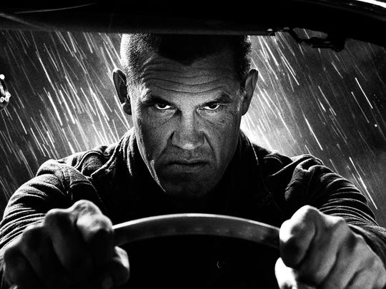 "Shades of gray: Josh Brolin in ""Sin City: A Dame to Kill For."""