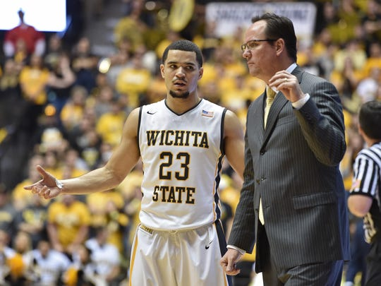 Wichita State Shockers guard Fred Van Vleet (23) talks