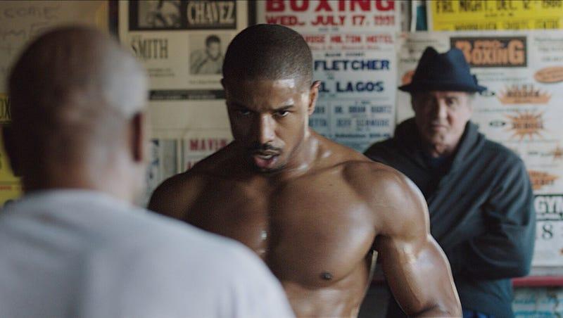 chocolate factible Destino  Michael B. Jordan dons 'Creed' gloves