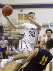 Gladiator Caden Collins makes this shot to punctuate