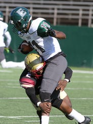 Midwestern State's Sir'Vell Ford tackles Eastern New