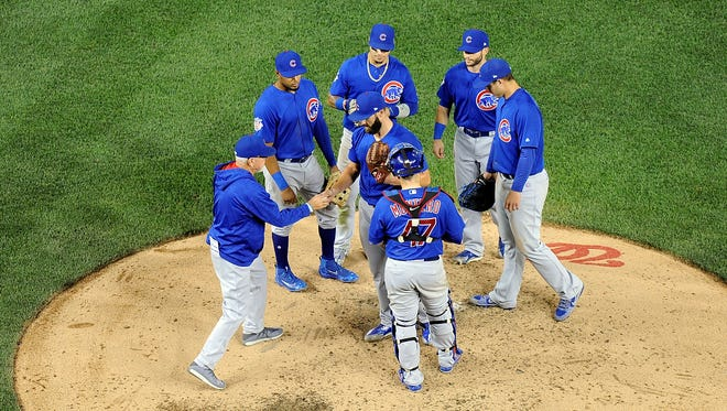 Washington stole seven bases in Tuesday's win against the Cubs.