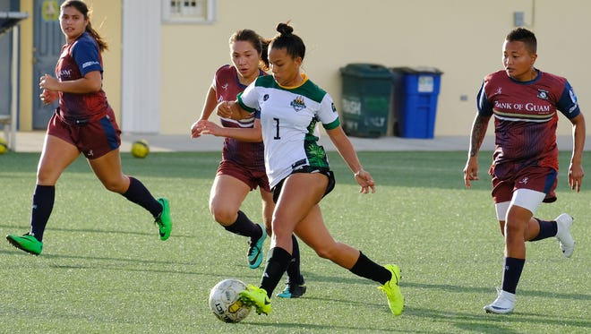UOG's Elisha Benavente won the Golden Boot Award in the Guam Football Association's Bud Light Women's Division Two League for the fall season of 2017