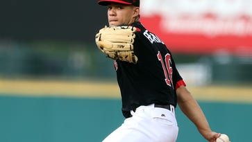 Jose Berrios, shown here earlier this month, pitched eight strong innings on Friday. He allowed just three hits while striking out nine, to become the IL's first 10-game winner in 2016.