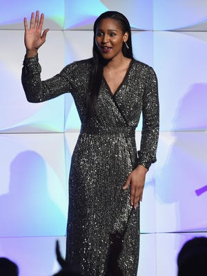 Basketball player Maya Moore attends the The Women's Sports Foundation's 38th Annual Salute To Women in Sports Awards Gala on October 18, 2017 in New York City.