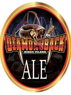 Diamondback Ale is one of three new park-themed beers to debut this year at Kings Island.