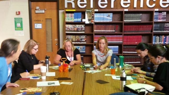 Toms River Regional school district staff participated in a full day of activities leading up to this Saturday's Makerfest, including building robots and sewing circuits.