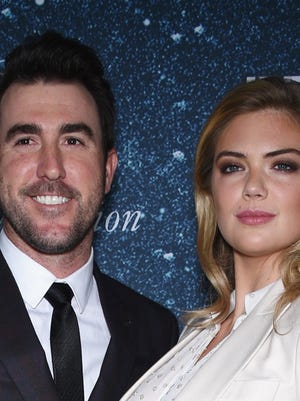 Justin Verlander and Kate Upton attend 2014 Women's Leadership Award Honoring Stella McCartney at Alice Tully Hall at Lincoln Center on Nov. 13 in New York.