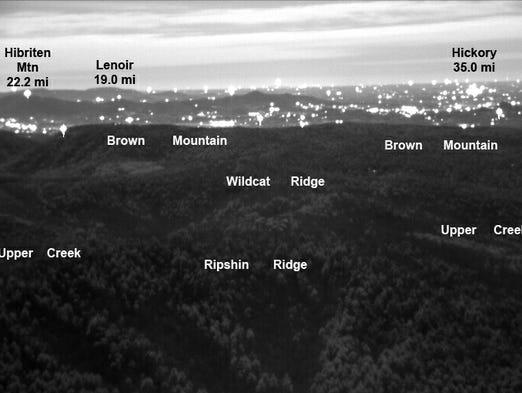 Brown mountain lights map