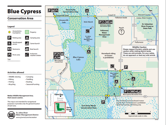 Blue Cypress map