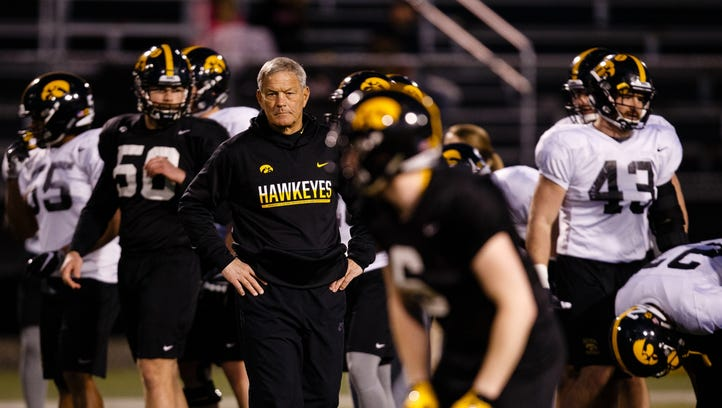 Iowa head coach Kirk Ferentz will preside over a Friday-night