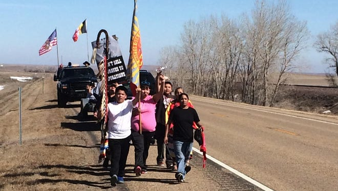 An 85-mile prayer walk to bring awareness to the Keystone XL pipeline project, to be built just off the Fort Peck Reservation, is being held through Saturday and will finish near Nashua on the western border of the reservation.