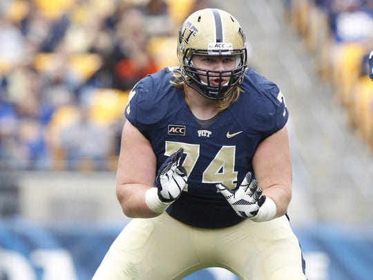 Pittsburgh offensive lineman Matt Rotheram, who visited the Green Bay Packers before the draft, reportedly has joined them as an undrafted rookie free agent.