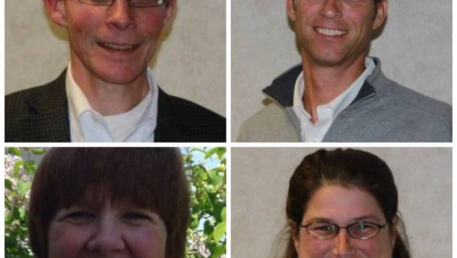 Clockwise from top left, Mark Perry, Doug Needham, Julie Bureau, Deb Roeske