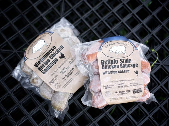 Products of Corridor Sausage Co. on display at the store in Eastern Market.