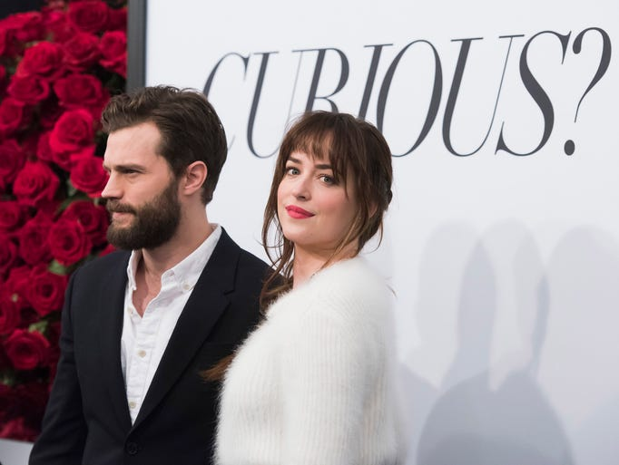 Fifty Shades of Grey co-stars Jamie Dornan and Dakota